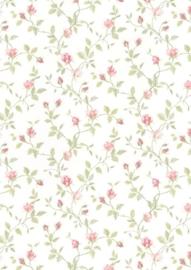dollhouse 68849 rood groen beige stijlvol bloem behang