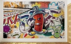 For Wall Fotobehang Graffiti 1395P8