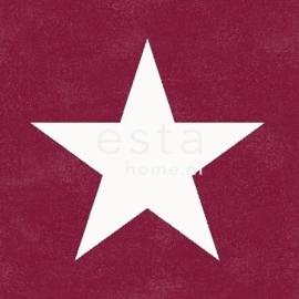 Esta Regatta Crew 136455 rood wit sterren behang