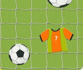 Rasch Kids Club 471700 Voetbal trendy behang