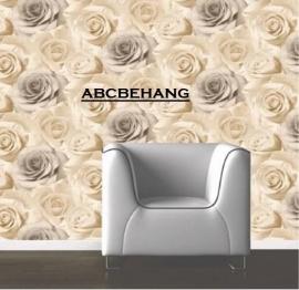 roos behang creme beige xx65