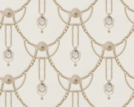 AS Creation Hermitage 9 behang 94353-2 creme beige klassiek diamanten