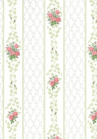 dollhouse 68834 rood groen wit bloemen ruitjes stijlvol behang