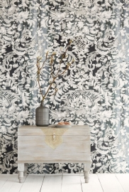 Eijffinger Black & Light Wallpower 356204 Painted Lace
