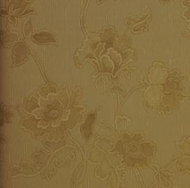 Goud bloemen behang 1436z