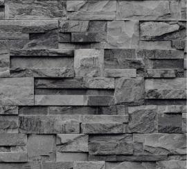 grijs zwart steen bluff vinyl behang xx89 -