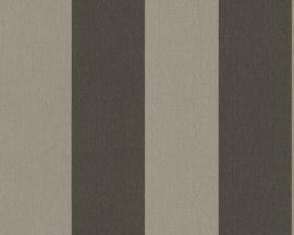 1790-43 bruin streepjes behang