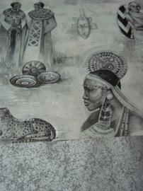 farao behang egyptisch beelden faros vinyl x05