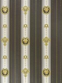 versace koppen strepen behang x1