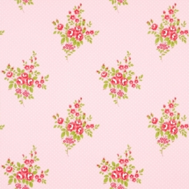 Boutique 550213 Roses Antique Pink bloemen behang