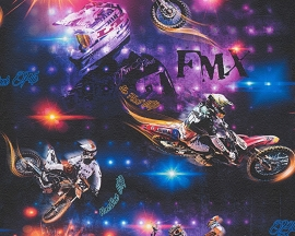 AS Creation Boys and Girls Motorbike behang 30656-1