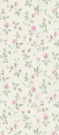 dollhouse 68851 paars groen wit stijlvol bloem behang