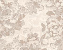 Behang bruin, room, metalics 338 641