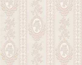 Bloemen Behang Beige creme, Metallics 186133