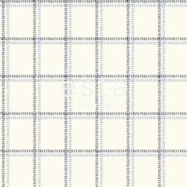Esta Regatta Crew 136434 blauw gebroken wit ruiten behang