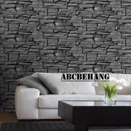 steen behang grijs zwart 3d xx8