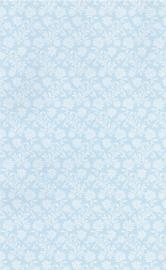 dollhouse 68856 blauw wit stijlvol takje bloemen behang