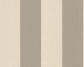 1790-36 beige bruin streepjes behang