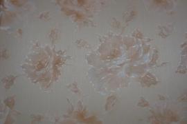 bloemen behang creme zalm 132