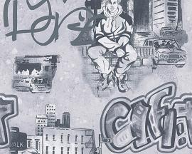 AS Creation Boys and Girls Graffiti behang 30468-1