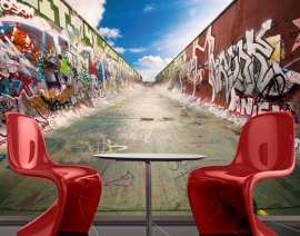 Mantiburi Fotobehang Graffiti Half Pipe 218