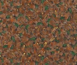 Rasch Black Forest - fazantveren behang 514728