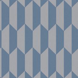 3D behang blauw retro 34900-2