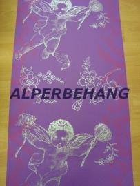 engelen beelden op behang paars zilver vlies x01