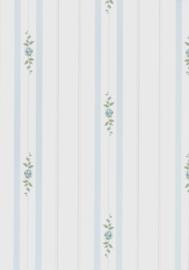 dollhouse 68843 wit groen blauw stijlvol streep bloem behang