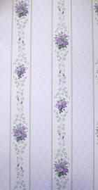 dollhouse 68833 paars zilver wit bloemen ruitjes stijlvol behang