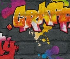 Rasch Kids Club 237801 Graffiti behang