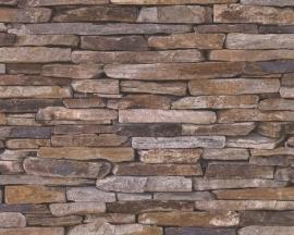 914217 steen bruin bluff behang -