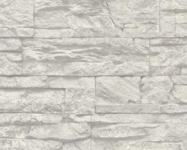 707116 grijs steen vlies behang -