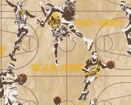 jongens behang 935491 basketbal sport bruin oranje