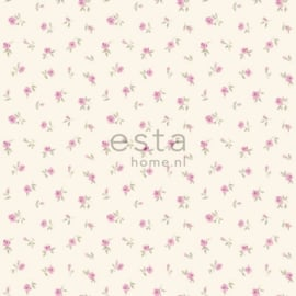 Esta Home Denim & Co. little roses purple 137701