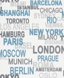 Wereld steden stoer vlies behang  world city x25