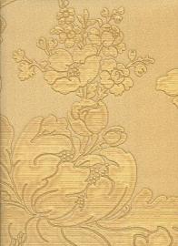 Goud bloemen behang 9055
