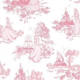 Kids@Home Disney Princess Pink Toile behang 70-233 .