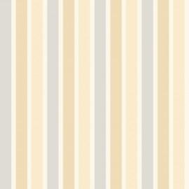 kinder behang 22 strepen blauw beige