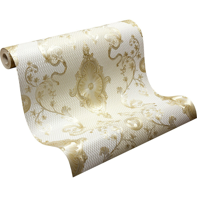 klassiek behang goud wit vinyl xxx41