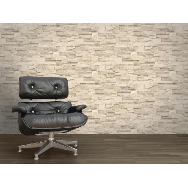 steen 3d trendy behang