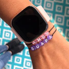 The Name Bracelet Purple | Naamtouwtje Paars