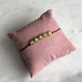 The Namebracelet Gold | Naamtouwtje Goud
