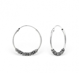 Zilveren oorringen 20mm