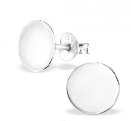 Zilveren oorstekers rondje