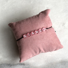 The Name Bracelet Pink | Naamtouwtje Roze