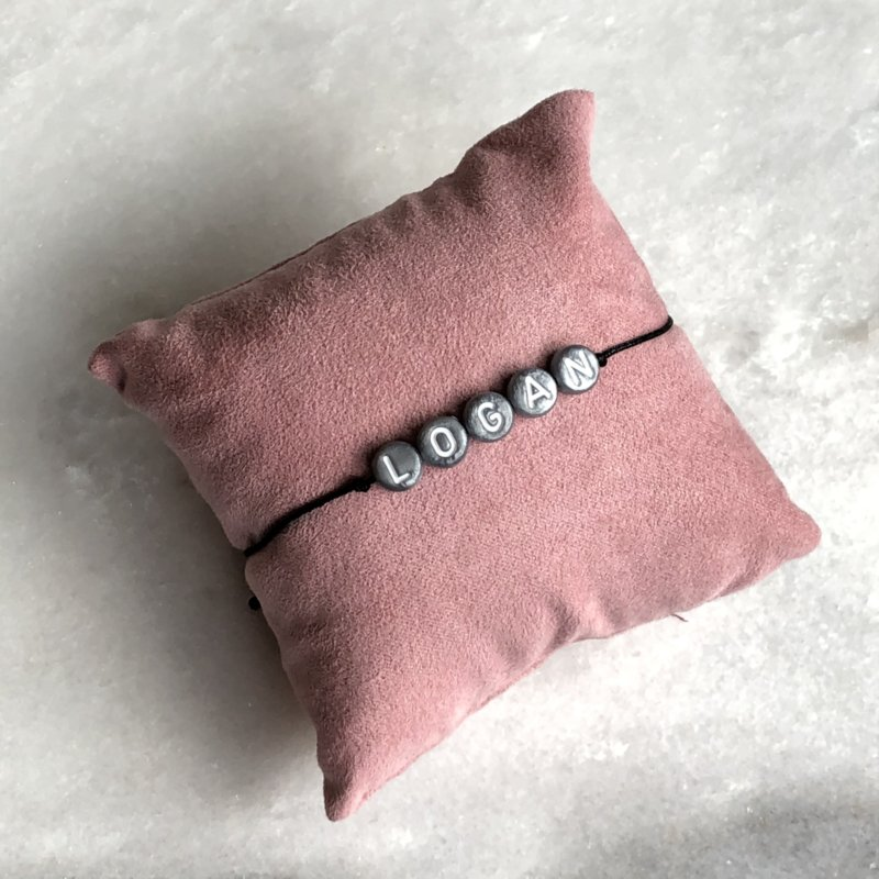 The Name Bracelet Silver | Naamtouwtje Zilver