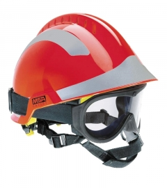 MSA F2 X-TREM helmet red with goggle