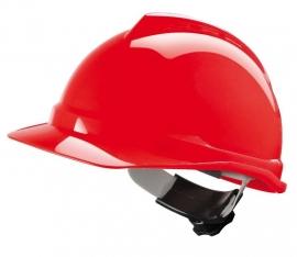 MSA Veiligheidshelm V-Gard 500 met Fas-Trac Rood (Geventileerd)