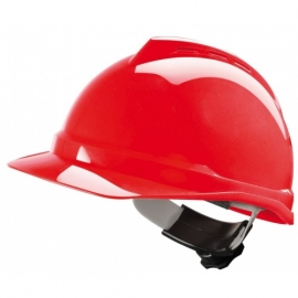 MSA V-Gard 200 Schutzhelm, belüftet, rot, Fas-Trac
